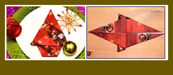 papierservietten falten weihnachtsbaum schnell und einfach. Black Bedroom Furniture Sets. Home Design Ideas