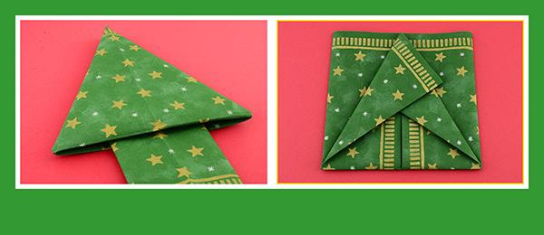 Servietten falten Tischdeko  Weihnachtsbaum