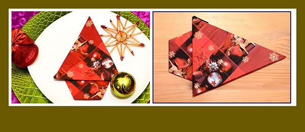 Servietten falten Weihnachten 0136