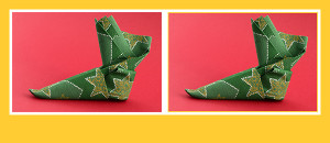 Papierservietten falten Anleitung Stiefel
