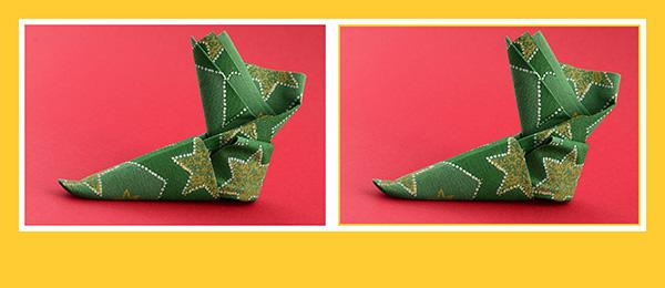Servietten Falten Zu Weihnachten Stiefel Weihnachtsstiefel