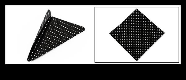 Servietten falten zur Abifete Dreieck