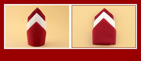 servietten falten zweifarbig