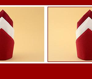 Papierservietten falten Silvester
